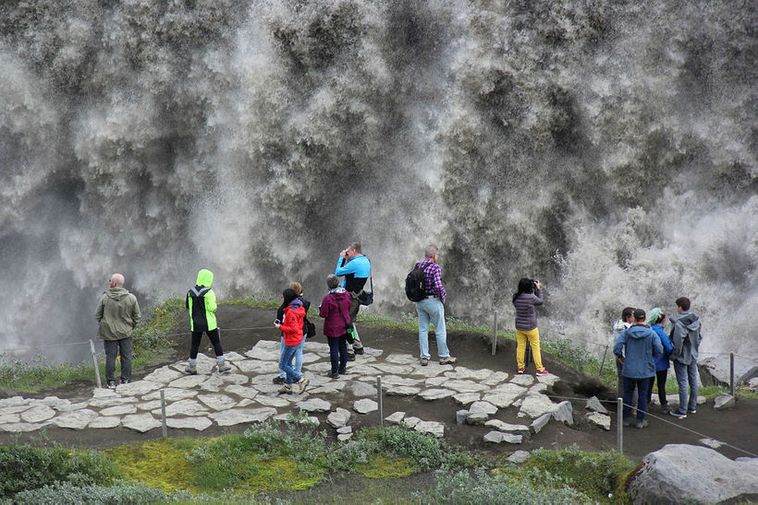 From Dettifoss waterfall, Northeast Iceland. Archive photo.