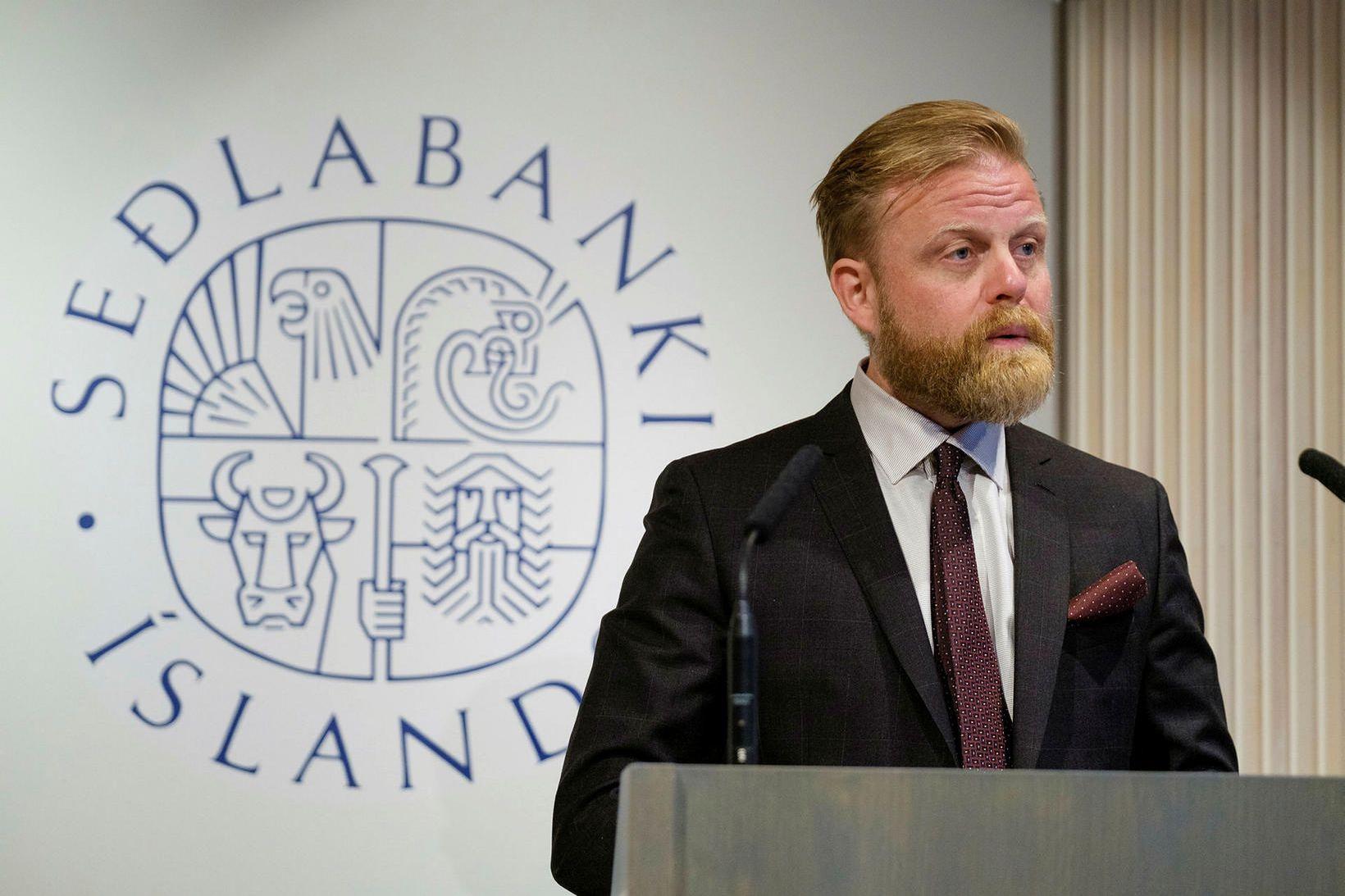 Ásgeir Jónsson er seðlabankastjóri og með honum munu starfa þrír …