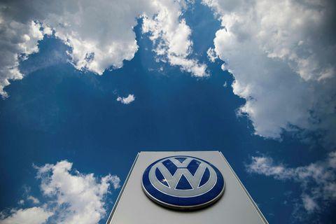 Lógó bílaframleiðandans Volkswagen.