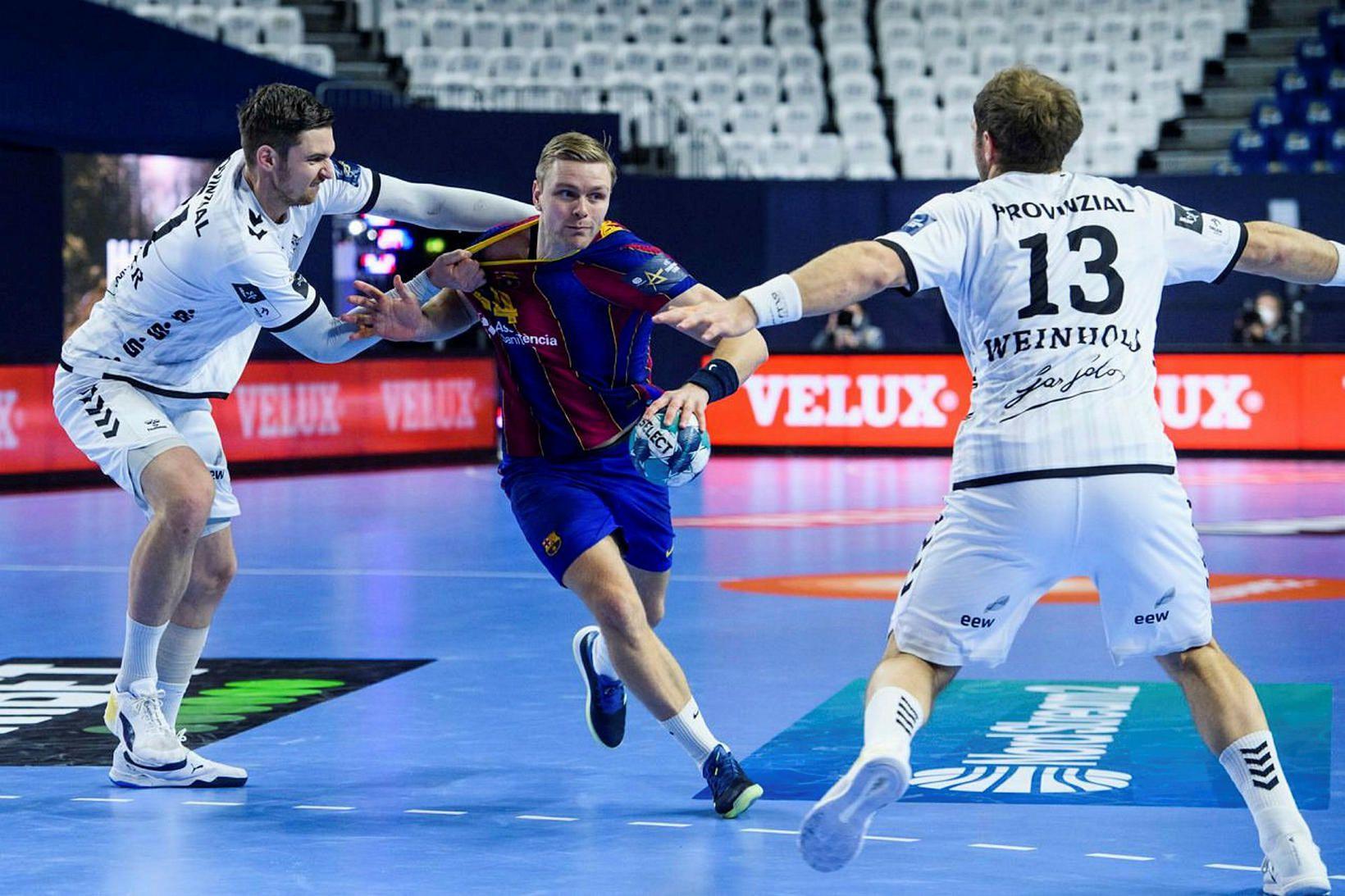 Aron Pálmarsson var ekki í leikmannahópi Barcelona í dag.