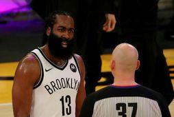 James Harden raðaði inn stigunum fyrir Brooklyn Nets í nótt.