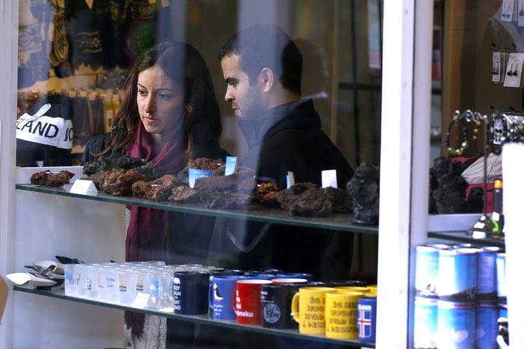 Tourists at Nordic Store, Reykjavík.