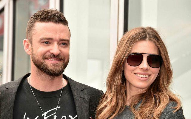 Justin Timberlake og Jessica Biel eiga tvö börn.