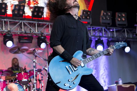 The Foo Fighters played many of their old hits, along with brand new songs.