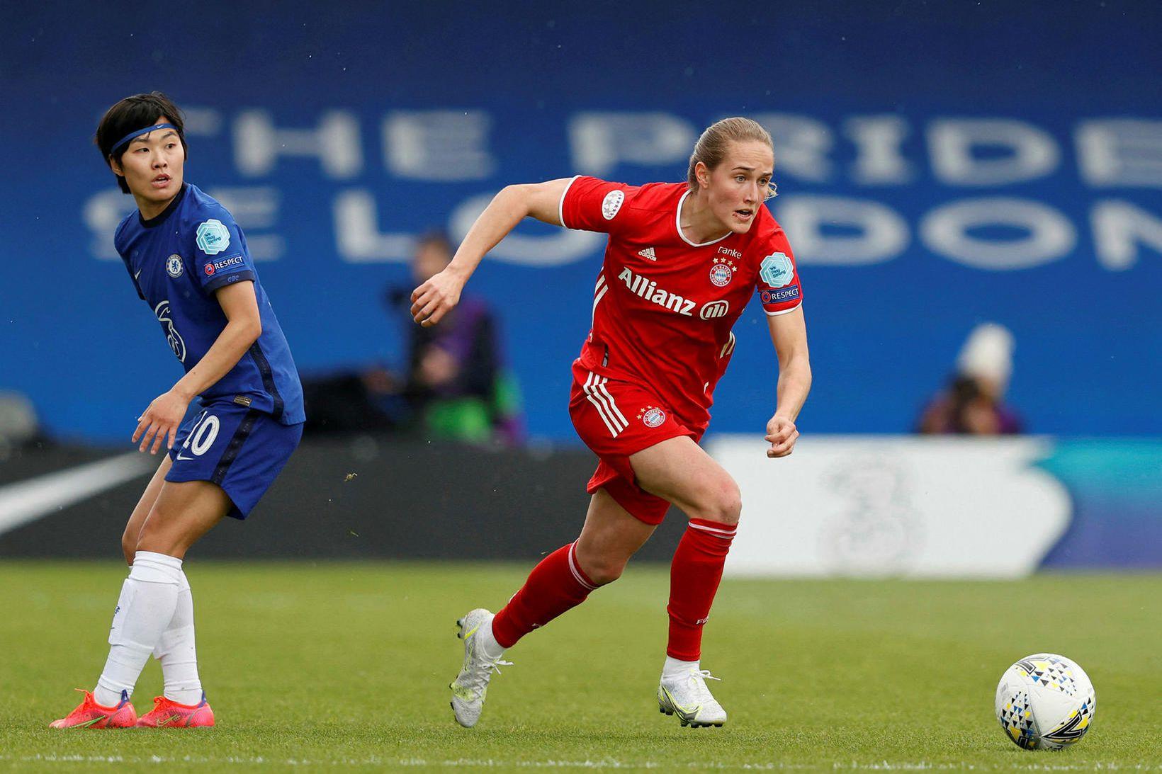 Sydney Lohmann skoraði mark Bayern gegn Wolfsburg í dag.