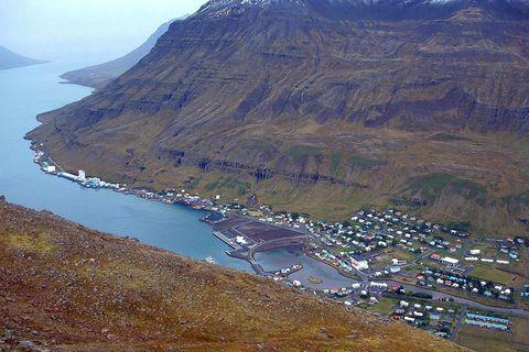 The beautiful town of Seyðisfjörður is a popular artists residence.