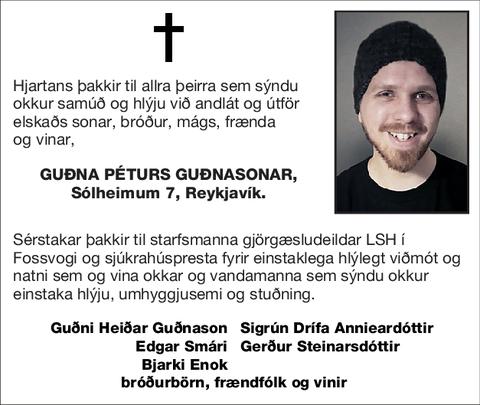 Guðna Péturs Guðnasonar,