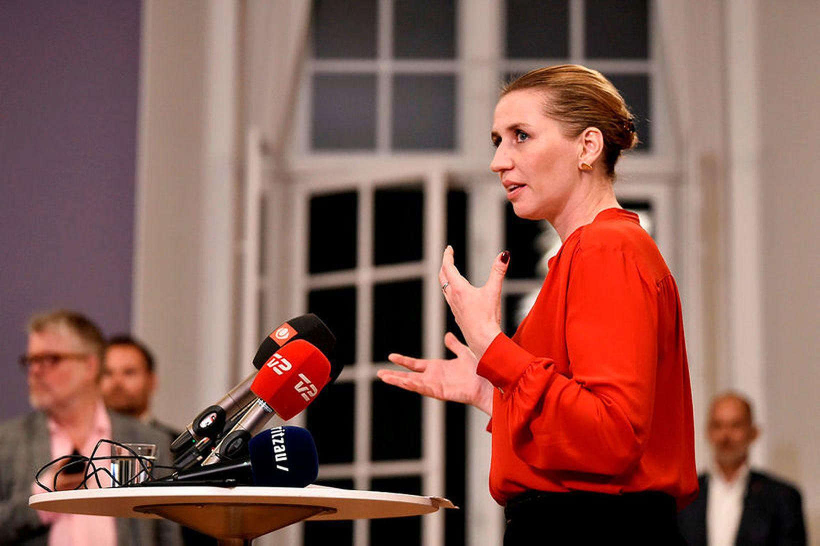 Mette Frederiksen, forsætisráðherra Danmerkur, kynnir nýjan stjórnarsáttmála dönsku ríkisstjórnarinnar í …