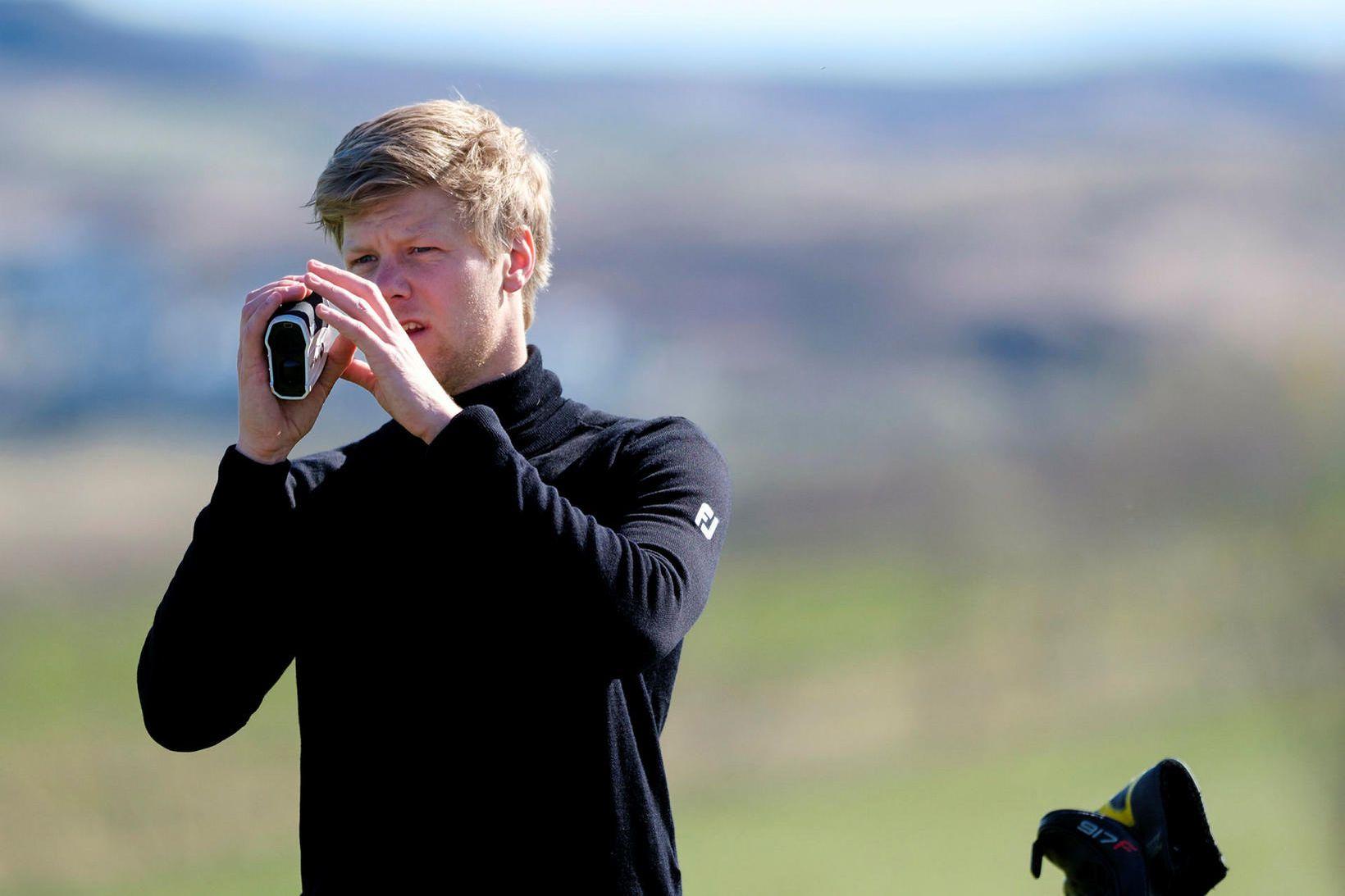 Guðmundur Ágúst Kristjánsson spilaði frábært golf á Norður-Írlandi.