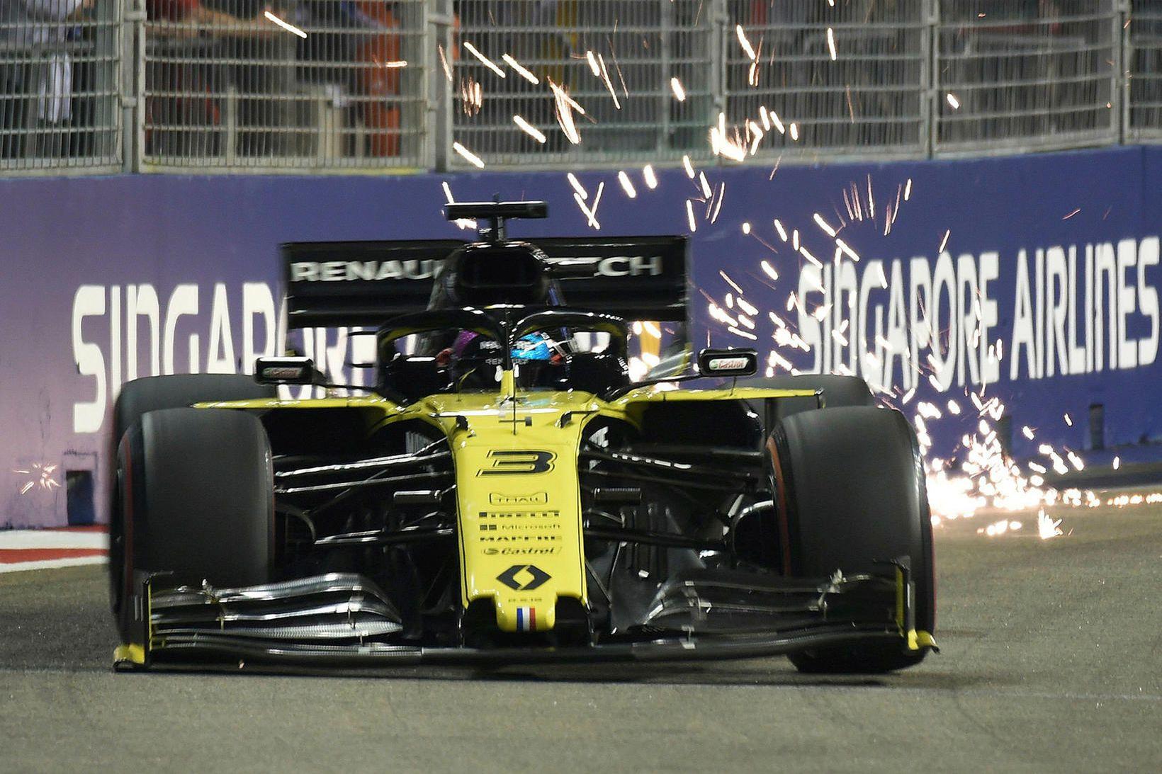 Daniel Ricciardo í tímatökunni í Singapúr.