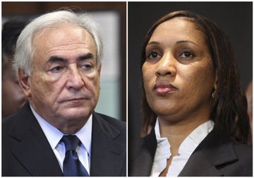 Dominique Strauss-Kahn og Nafissatou Diallo.
