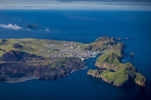 The main island, Heimaey.