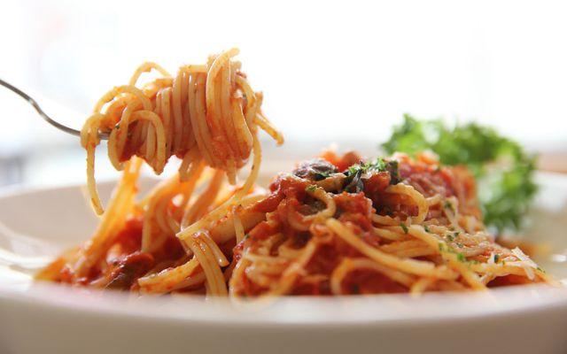 Ekta ítalskt spaghettí með kjötsósu - eins og það gerist best.