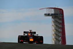 Max Verstappen í Austin.