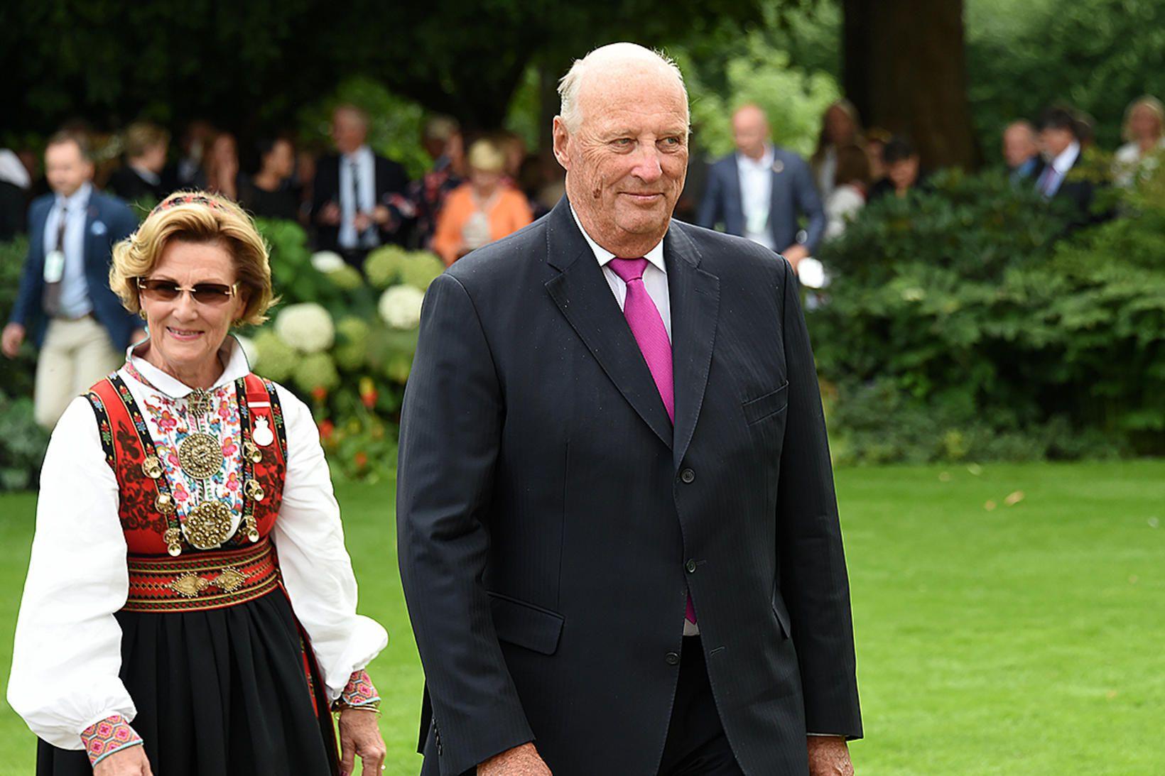 Haraldur Noregskonungur og Sonja drottning.