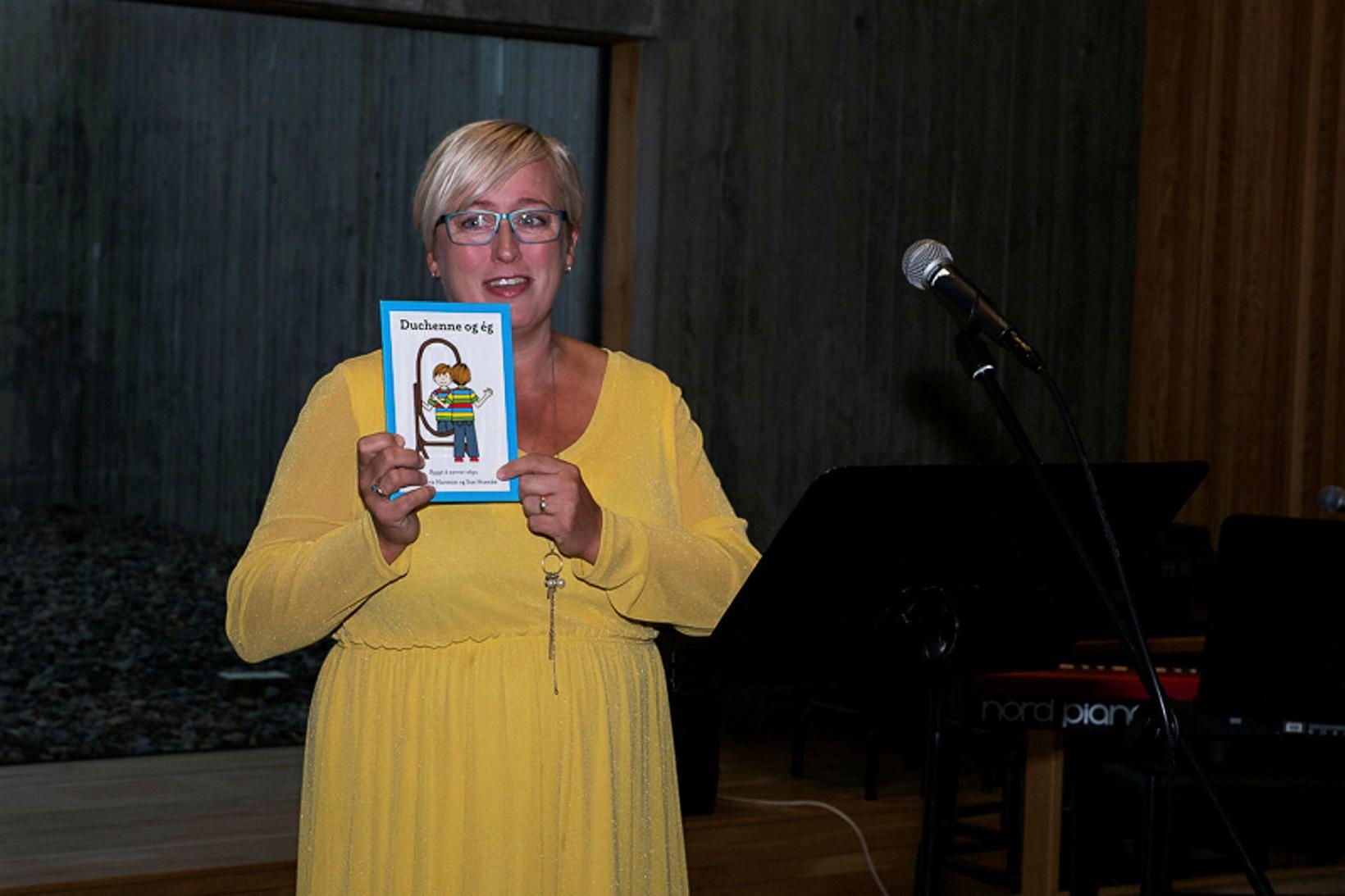 Hulda Björk Svansdóttir móðir Ægis Þórs sem er með Duchenne-vöðvarýrnunarsjúkdóminn.