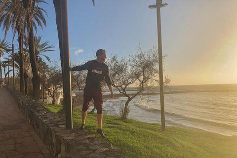 Helgi Jean Claessen nýtur nú lífsins á Tenerife.