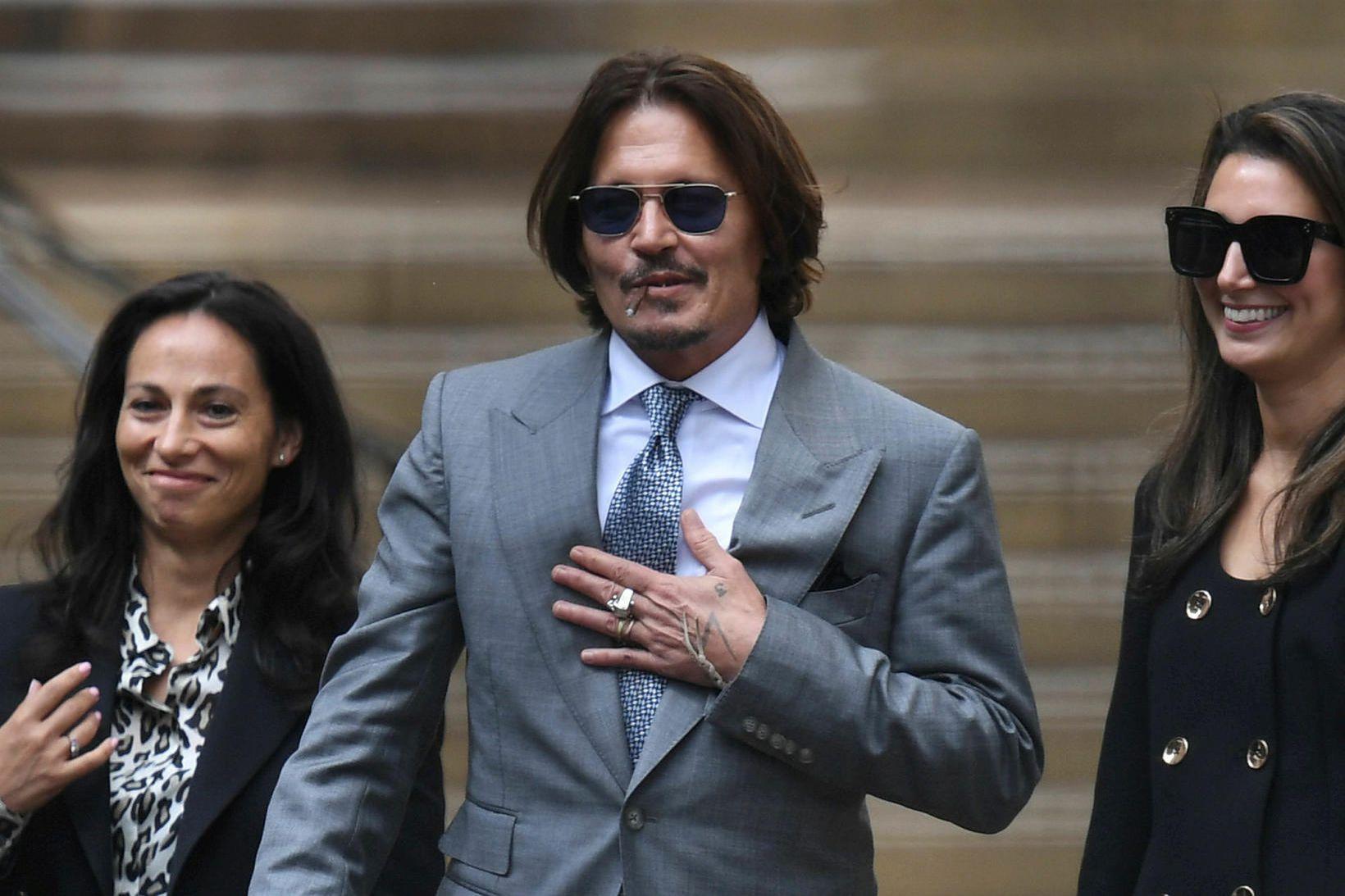 Johnny Depp eftir áttunda dag réttarhaldanna.