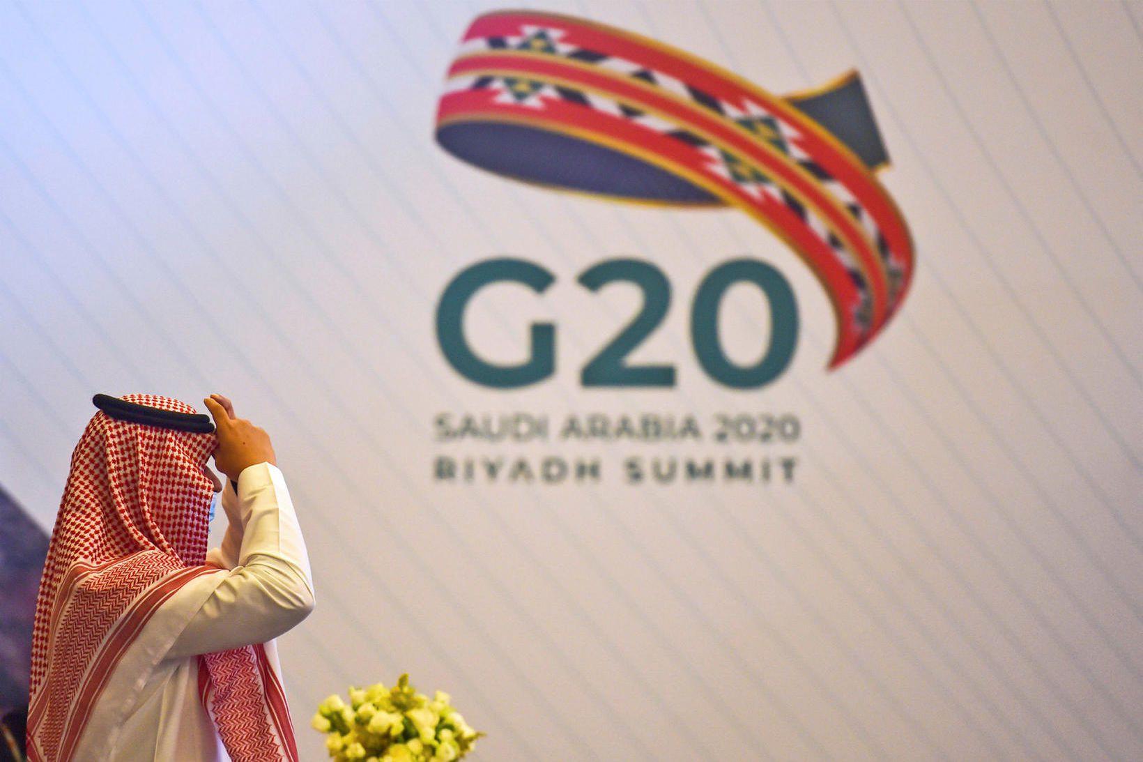 Ráðstefna G20 ríkjanna fer fram í Riyadh, höfuðborg Sádi-Arabíu, um …