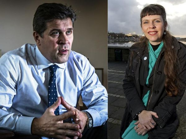 Could one of these be Iceland's next Prime Minister? Leader of the Independence Party, Bjarni Benediktsson (left) and Pirate Party MP, Birgitta Jónsdóttir (right).