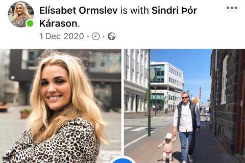 Elísabet Ormslev og Sindri Þór Kárason skráðu sig í samband á Facebook.