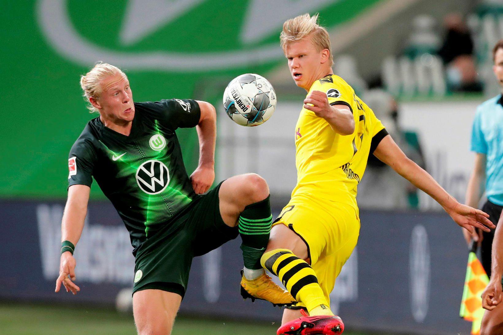 Dortmund hafði betur gegn Wolfsburg á útivelli.