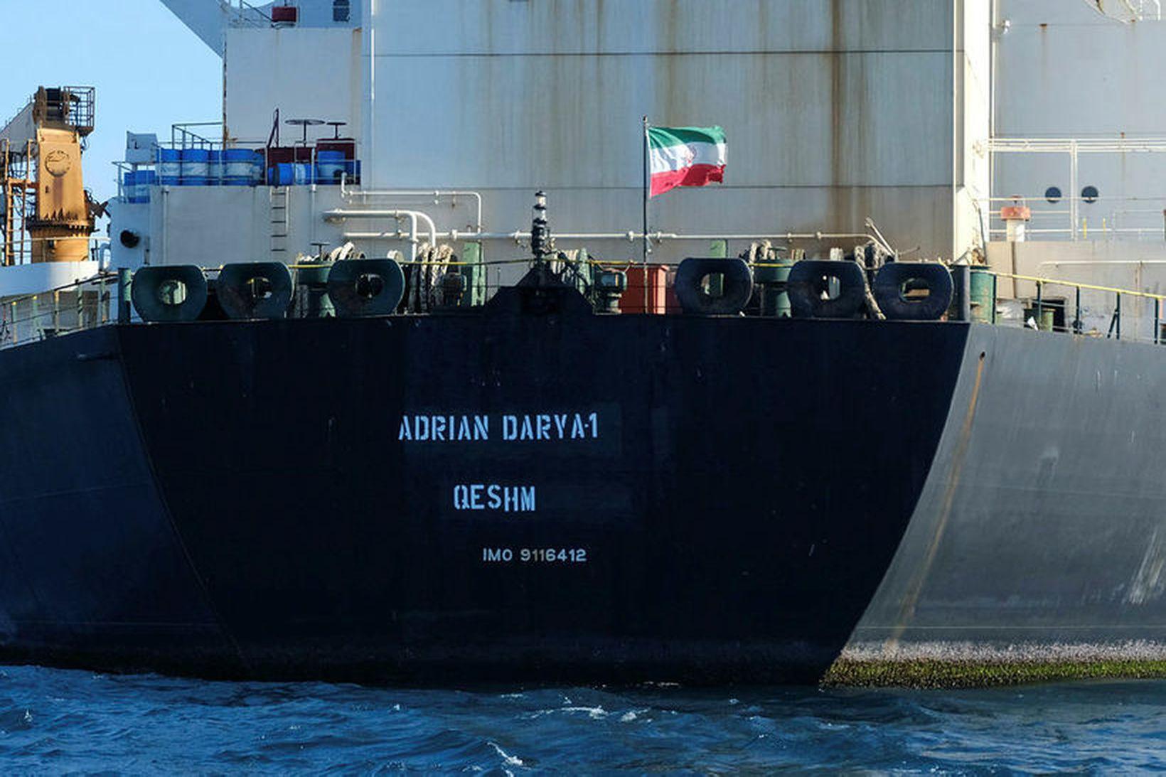 Olíuskipið umdeilda ber nú nafnið Adrian Darya.