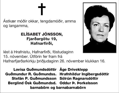 Elísabet Jónsson,