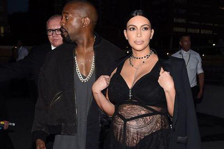Kanye West og Kim Kardashian eiga von á sínu þriðja ...