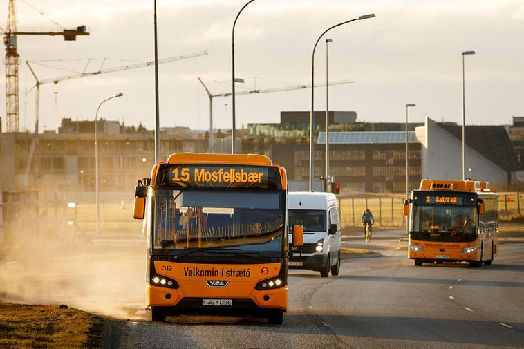 Bus rides are free today in Reykjavík.
