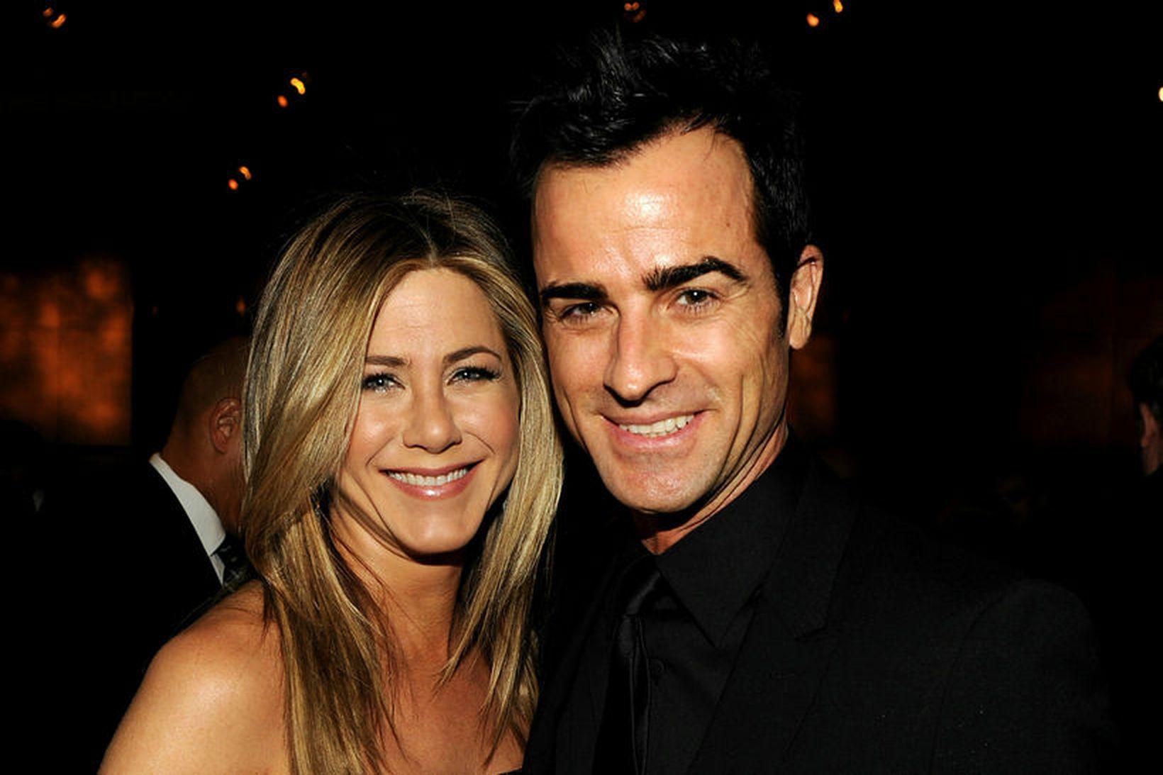 Jennifer Aniston og Justin Theroux eru skilin.