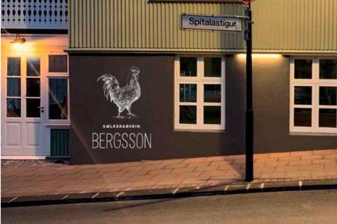 Sælkeraverslunin Bergsson er staðsett á Óðinsgötu 8b.