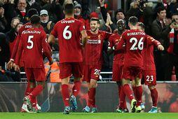 Liverpool vann sannfærandi sigur á Everton í gærkvöldi.