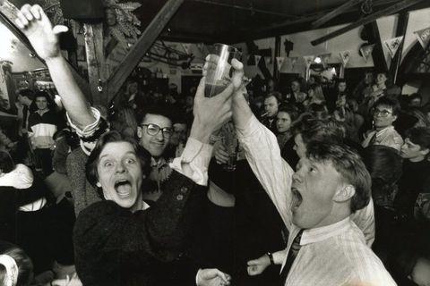 Beer celebrations back in 1989.