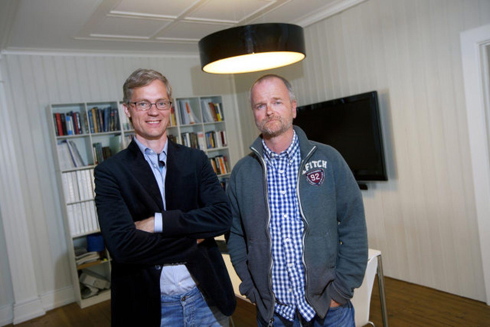 Viðskiptafélagarnir Hallbjörn Karlsson og Árni Hauksson.