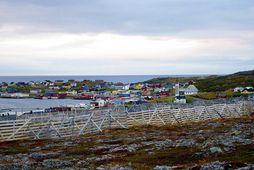 Bærinn Mehamn í Finnmörku, nyrst í Noregi.