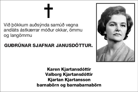 Guðrúnar Sjafnar Janusdóttur.