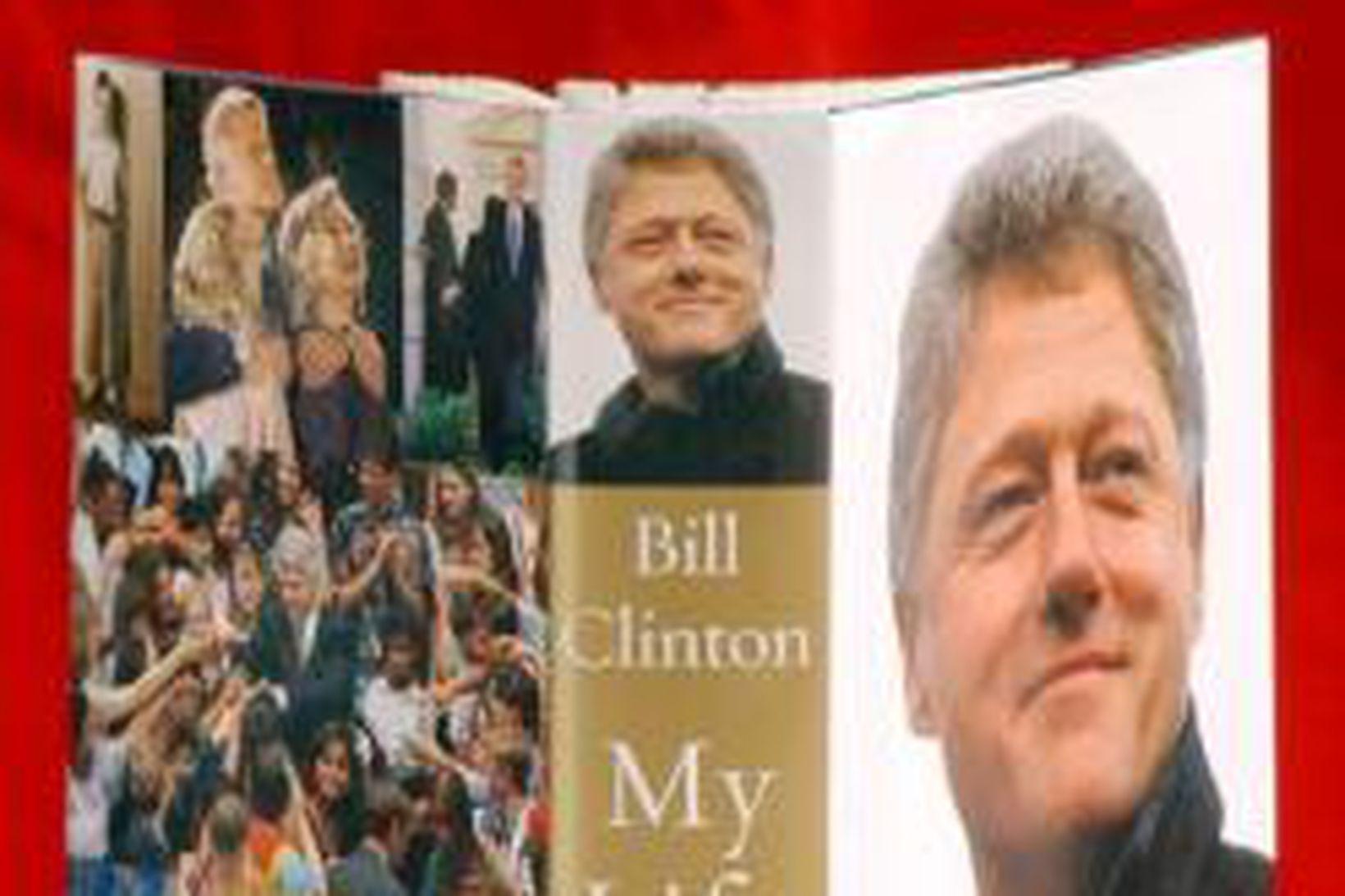 Kápa endurminningabókar Bills Clintons, fyrrverandi forseta Bandaríkjanna.