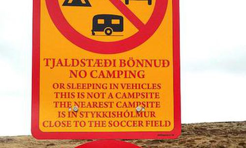 The Icelandic State has no problem with the sign, which is proving useful all around Iceland.