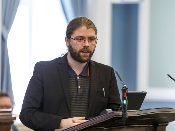 Helgi Hrafn Gunnarsson, MP for the Pirate Party in Iceland.