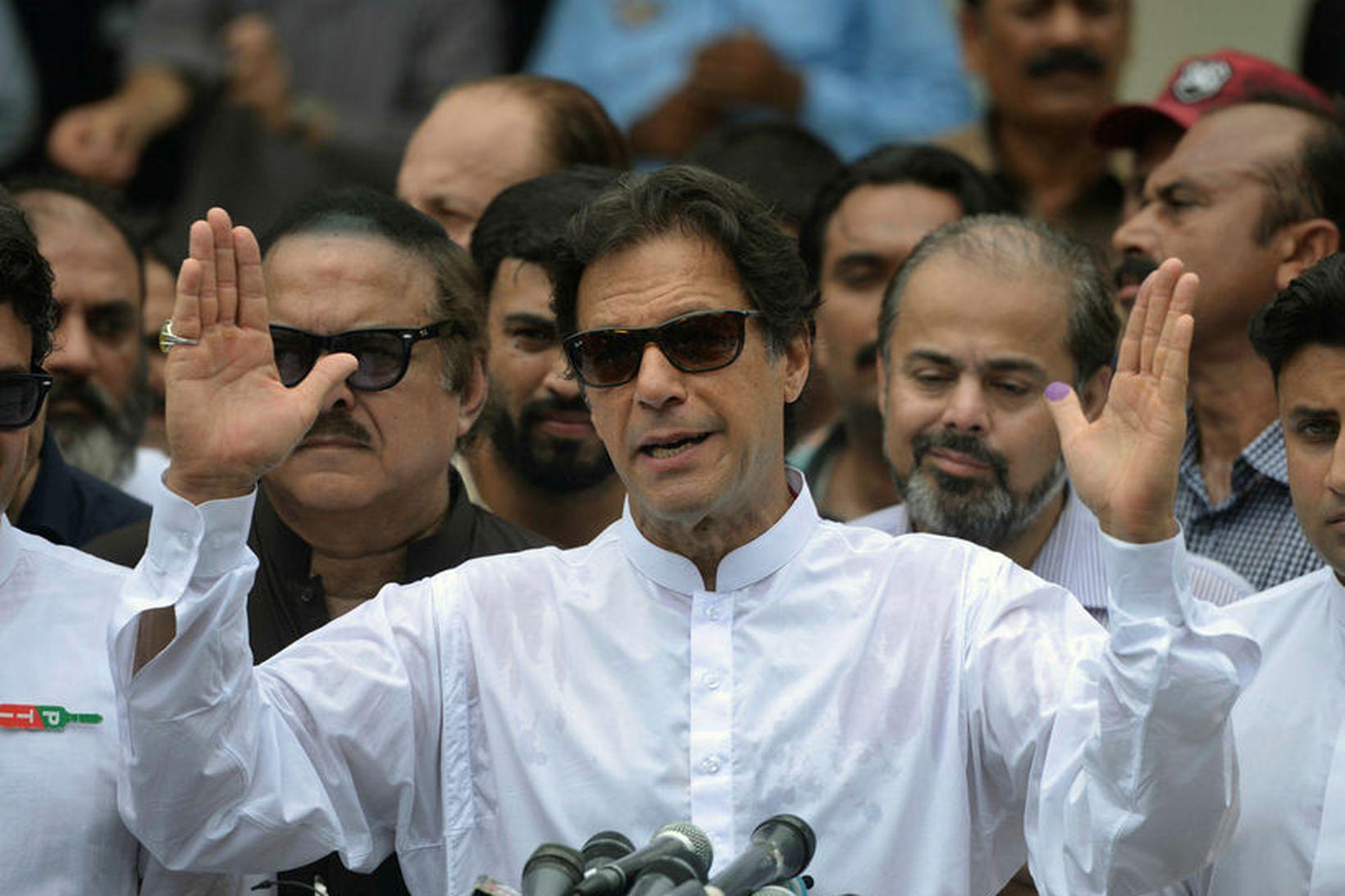 Imran Khan, forsætisráðherra Pakistans.