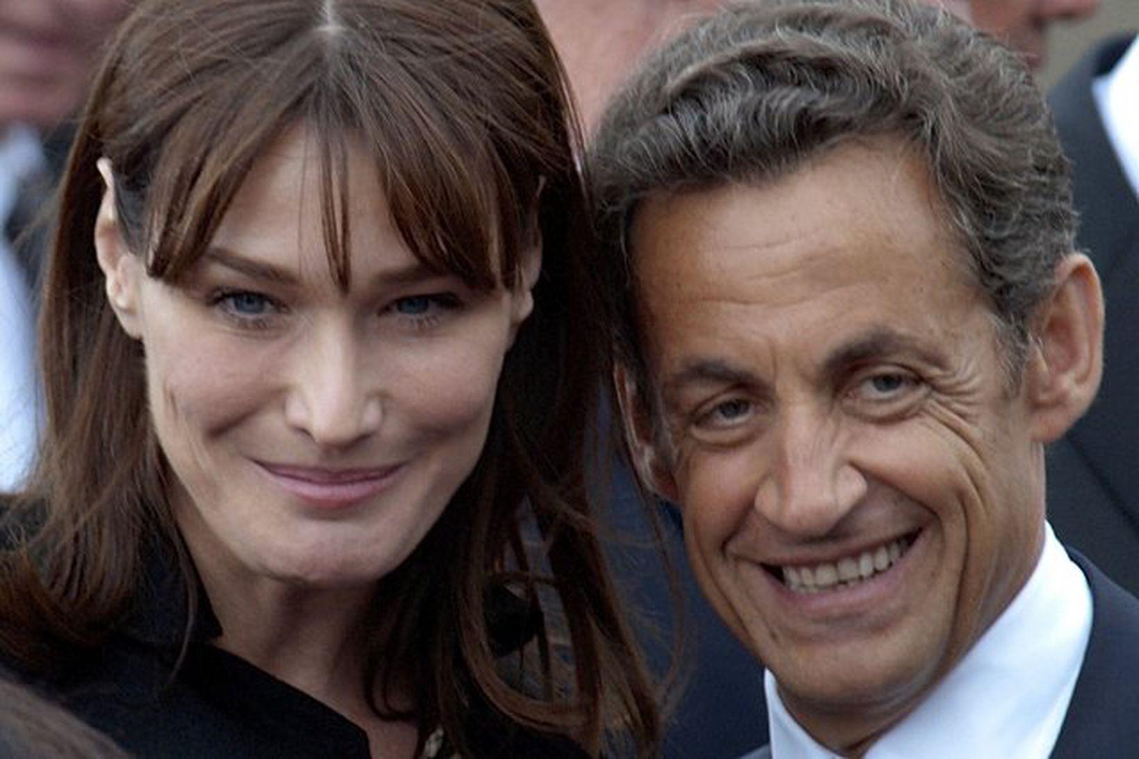 Carla Bruni og Nicolas Sarkozy hafa verið gift í 12 …