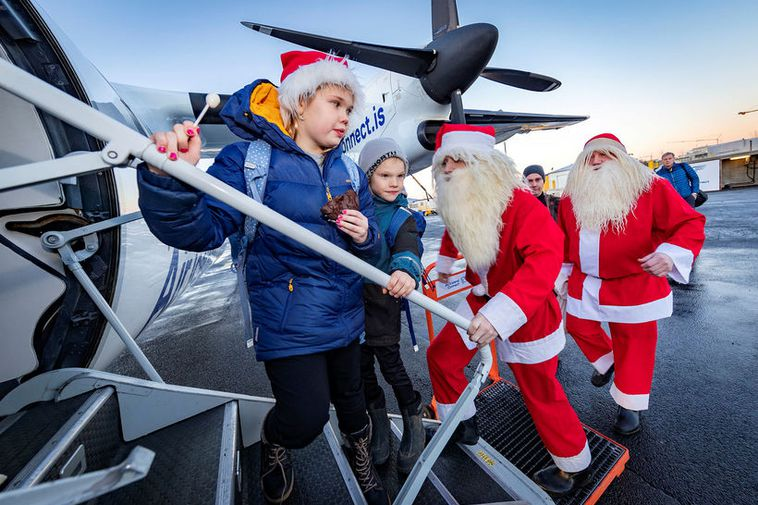 A couple of yule lads managed to get on a plane to Ísafjörður on Friday.