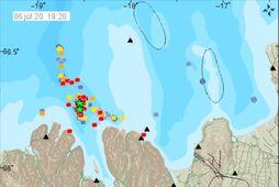 Jarðskjálftakerfi Veðurstofu Íslands hefur staðsett yfir 10.000 skjálfta á svæðinu síðan hrinan hófst þann 19. …