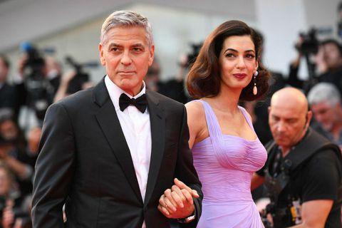 Hjónin George og Amal Clooney.