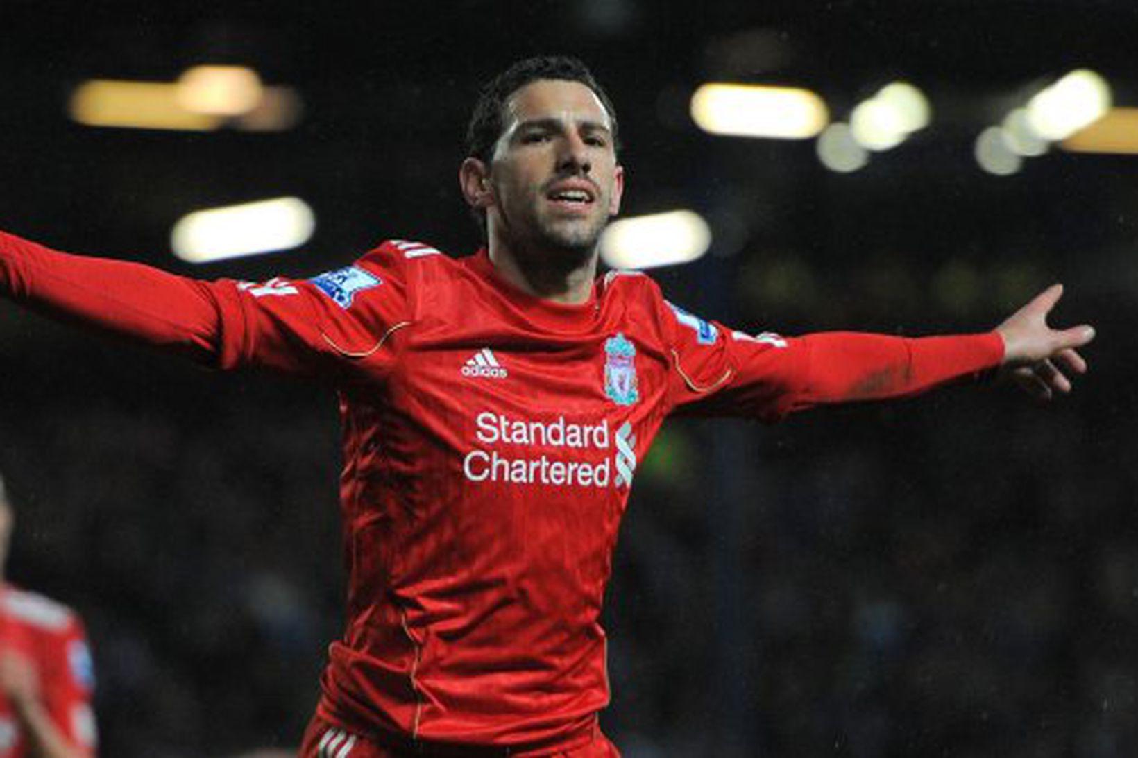 Maxi Rodríguez lék með Liverpool á árunum 2010 til 2012.