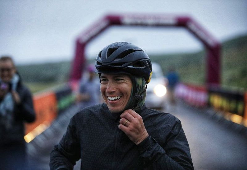 Chris Burkard was happy after completing the Cyclothon.