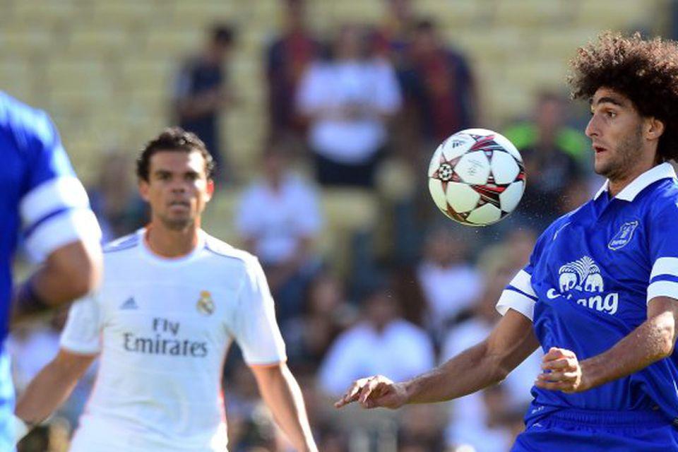 Marouane Fellaini er kominn til Manchester United frá Everton fyrir 27,5 milljónir punda.