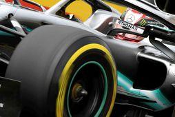 Lewis Hamilton á æfingunni í Hungaroring í morgun.