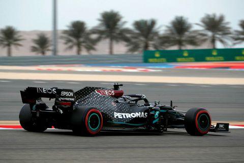 Lewis Hamilton í Barein.